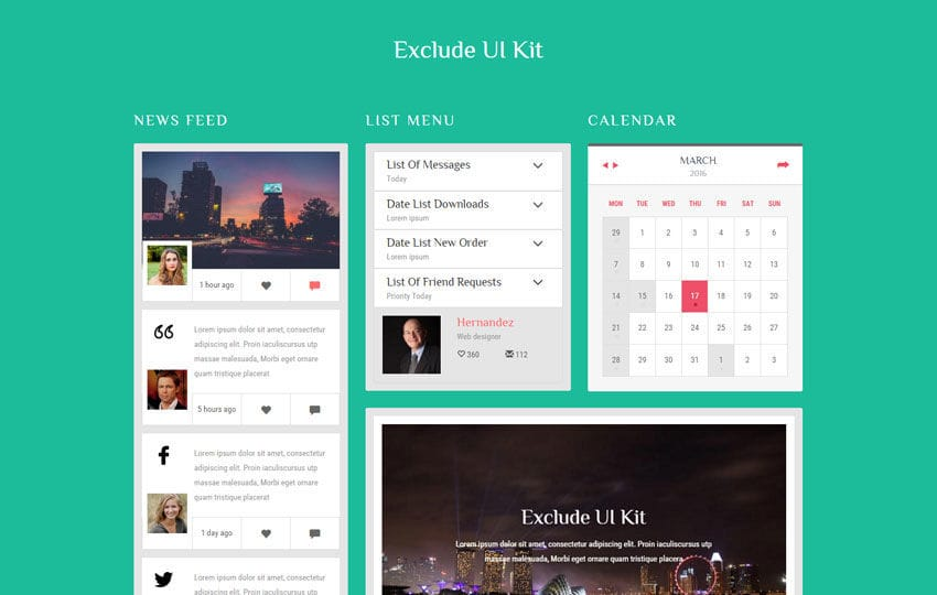 Exclude UI Kit a Flat Bootstrap Responsive Web Template ...