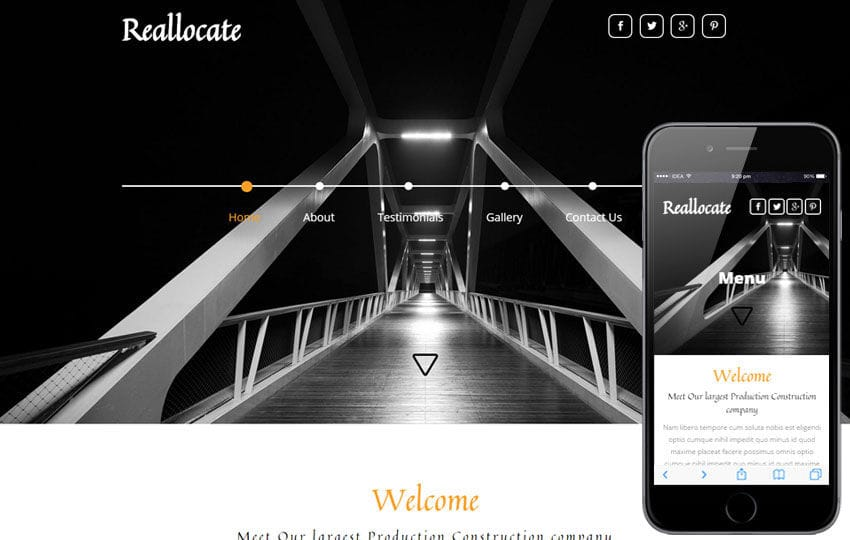Reallocate a Real Estate Flat Bootstrap Responsive Web Template Mobile website template Free
