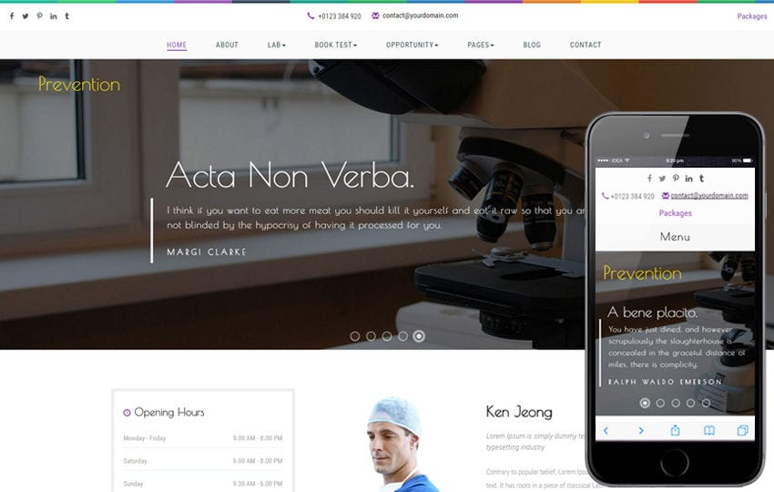 Prevention a Medical Flat Bootstrap Responsive Web Template Mobile website template Free