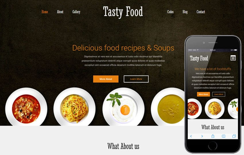 Tasty Food a Hotel Category Flat Bootstrap Responsive Web Template Mobile website template Free