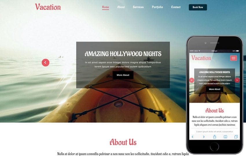 Vacation a Travel Category Flat Bootstrap Responsive Web Template Mobile website template Free