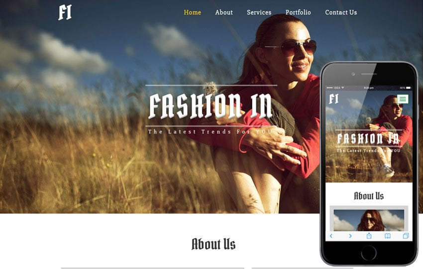 Fashion In a Fashion Category Flat Bootstrap Responsive Web Template Mobile website template Free