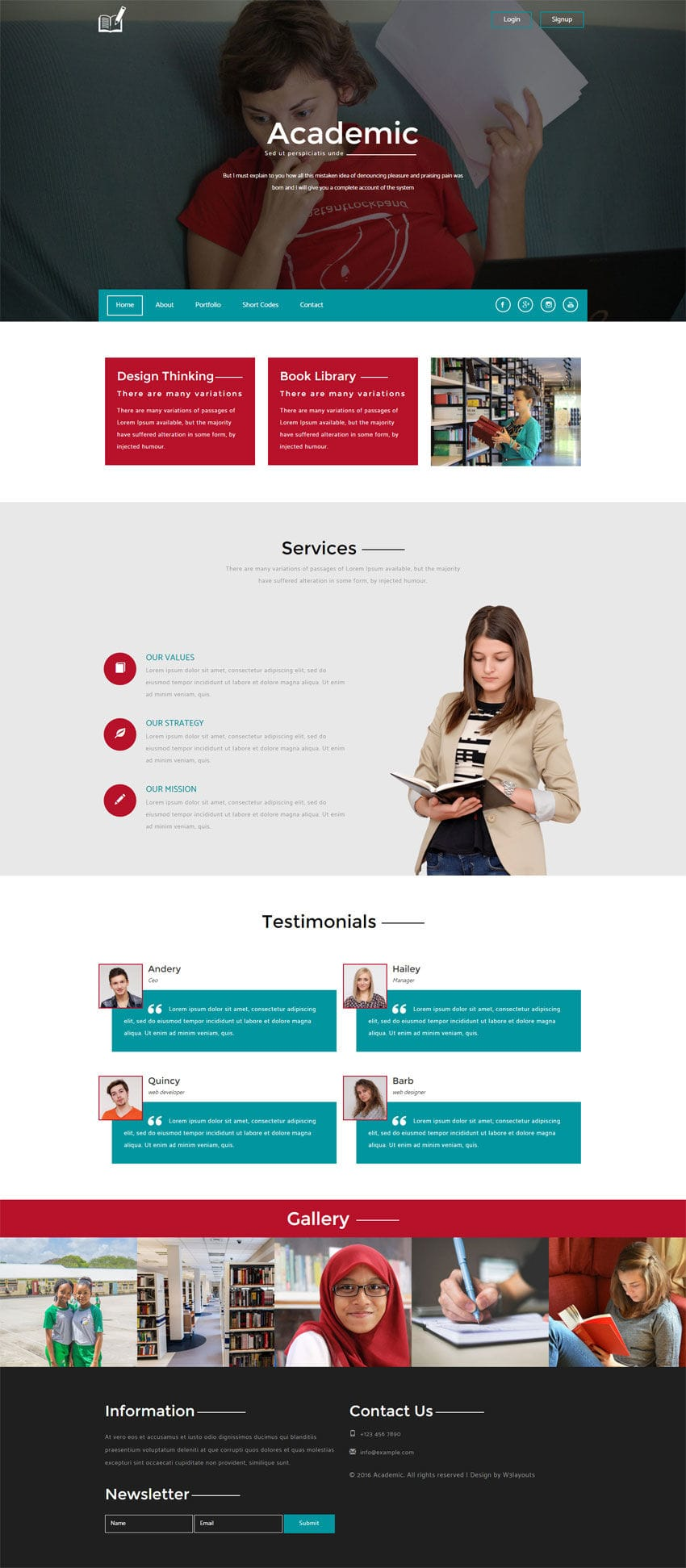 Academic a education category flat bootstrap responsive web template pronofoot35fo Images