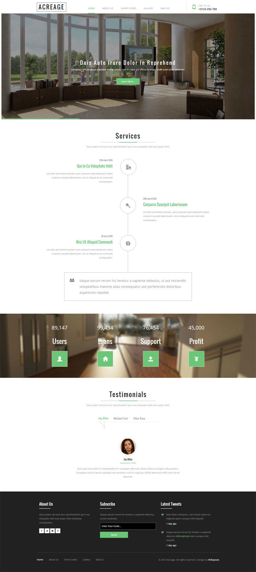 Acreage A Real Estate Flat Bootstrap Responsive Web Template