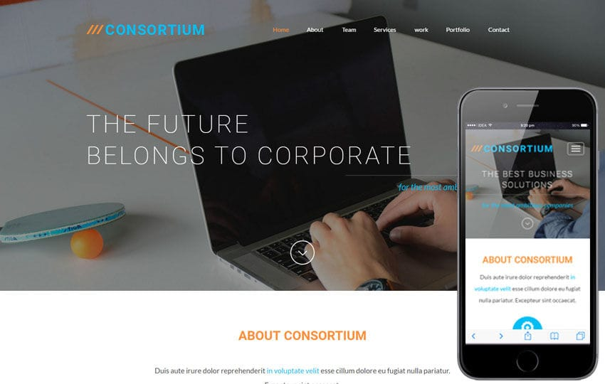 Consortium a Corporate Business  Flat Bootstrap Responsive Web Template Mobile website template Free