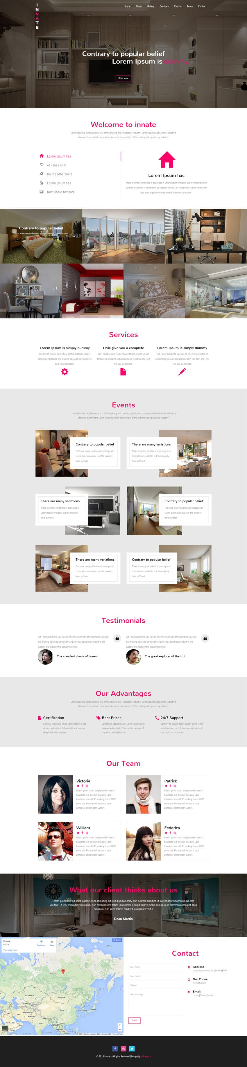 Innate A Interior Category Flat Bootstrap Responsive Web Template
