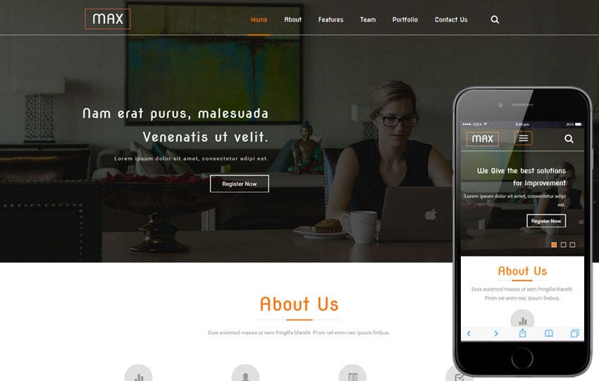 Max a Corporate Category Flat Bootstrap Responsive web Template Mobile website template Free
