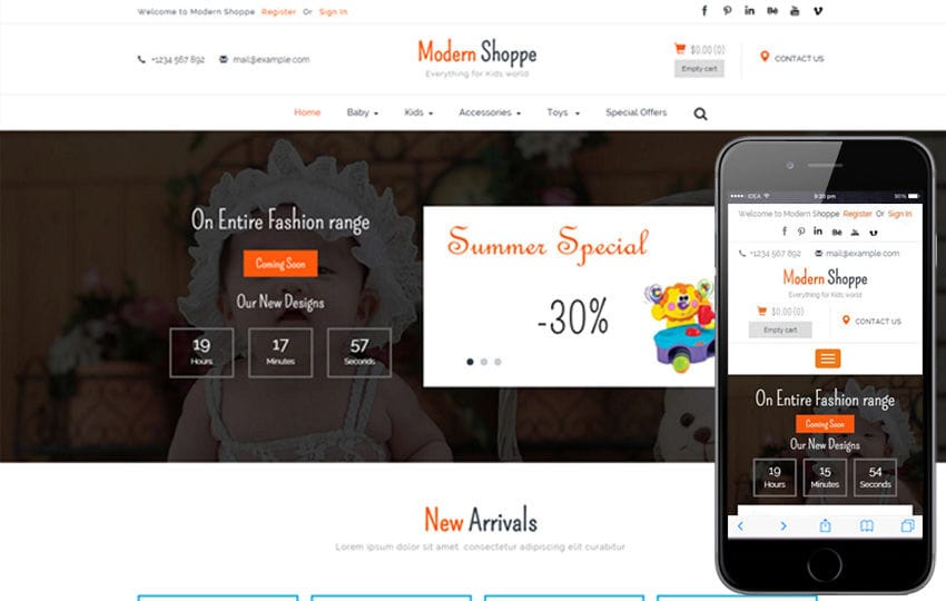 Modern Shoppe a Ecommerce Flat Bootstrap Responsive Web Template Mobile website template Free