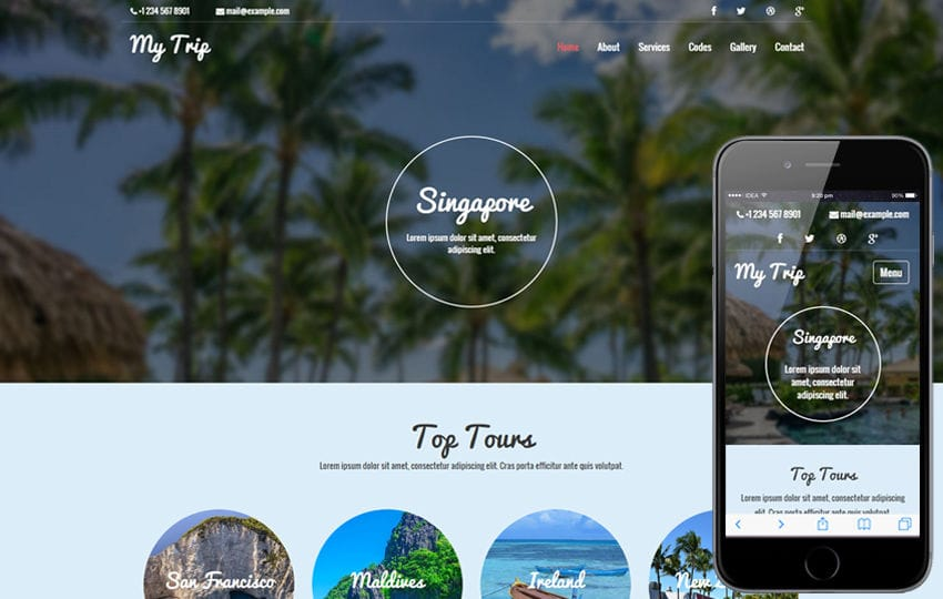 My Trip a Travel Category Flat Bootstrap responsive Web Template Mobile website template Free