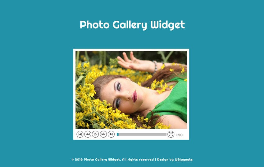 Photo Gallery Widget Responsive Widget Template Mobile website template Free