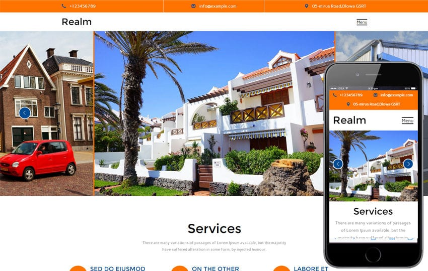 Realm A Real Estate Category Flat Bootstrap Responsive Web Template Mobile website template Free