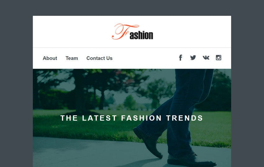 Fashion a Newsletter Template Mobile website template Free