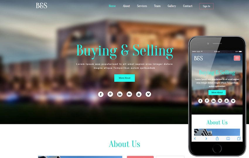 Buying & Selling a Real Estate  Flat Bootstrap Responsive Web Template Mobile website template Free