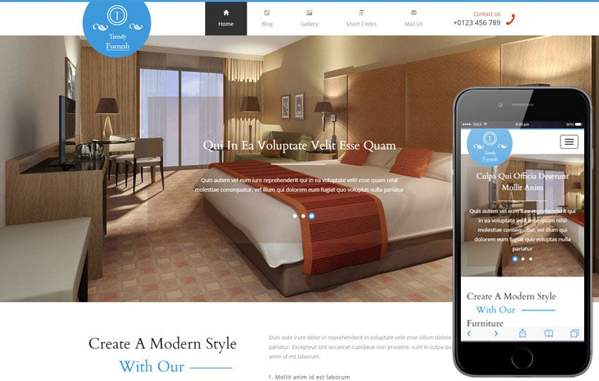 Trendy Furnish a Furniture Category Flat Bootstrap Responsive Web Template Mobile website template Free