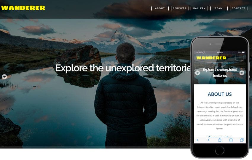 Wanderer a Travel Category Flat Bootstrap Responsive Web Template Mobile website template Free