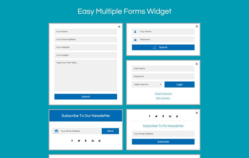 Flat login forms 5 33 for Jquery mobile login template