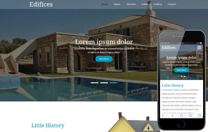 Edifices a Real Estates Category Flat Bootstrap Responsive  Web Template Mobile website template Free