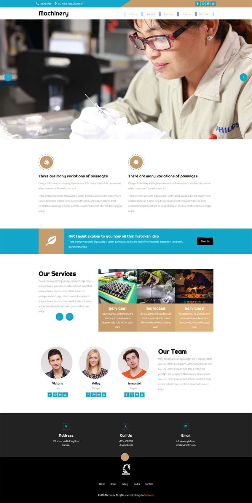 Machinery A Industrial Category Flat Bootstrap Responsive Web Template