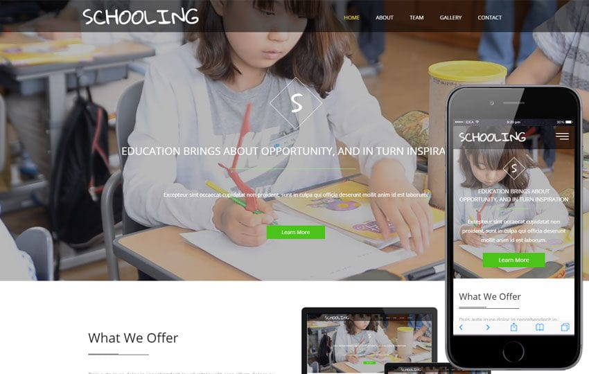 Schooling a Education Category Flat Bootstrap Responsive Web Template Mobile website template Free