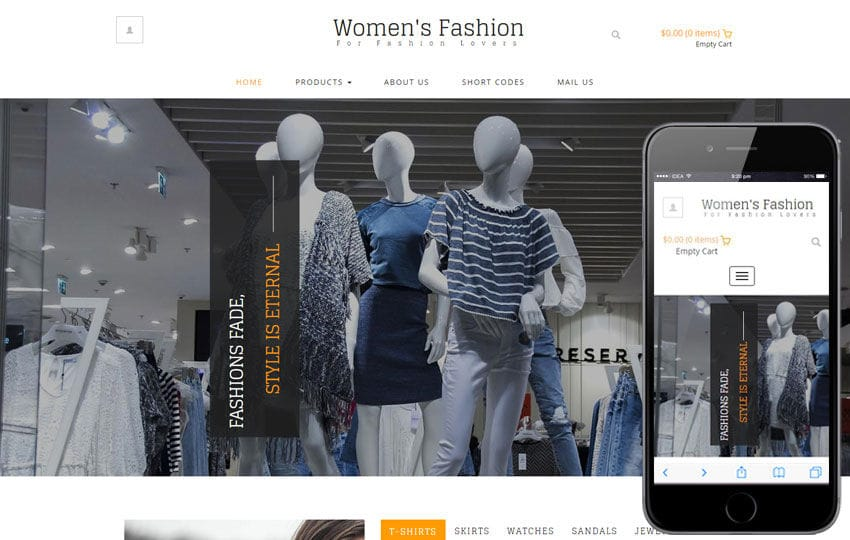 Womens Fashion a Ecommerce Category Flat Bootstrap Responsive Web Template Mobile website template Free