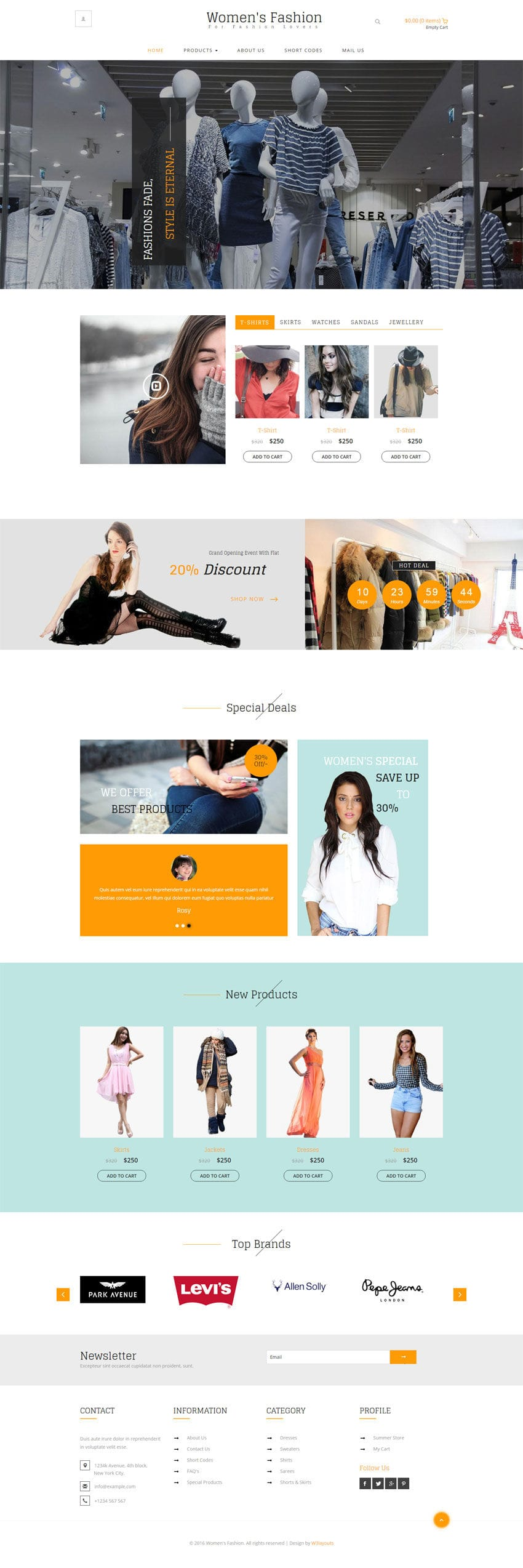 Womens Fashion A Ecommerce Category Flat Bootstrap Responsive Web