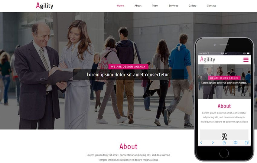 Agility a corporate Category Flat Bootstrap Responsive  Web Template Mobile website template Free