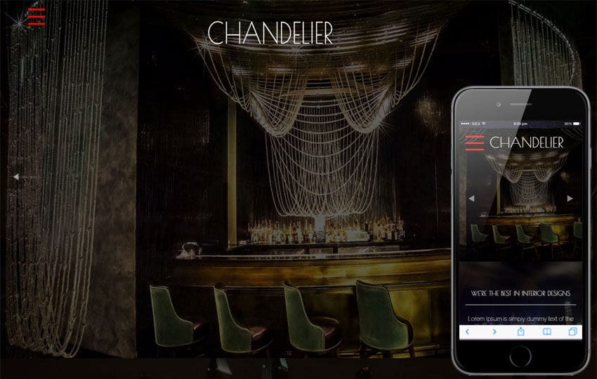 Chandelier a Furniture Category Flat Bootstarp Responsive Web Template Mobile website template Free