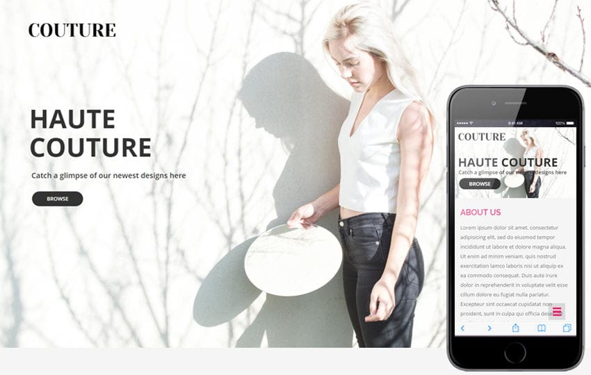 Couture a Fashion Category Flat Bootstrap Responsive Web Template Mobile website template Free