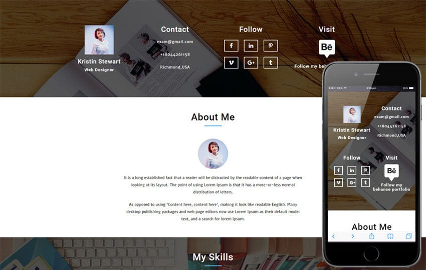 curriculum vitae a personal category flat bootstrap responsive web