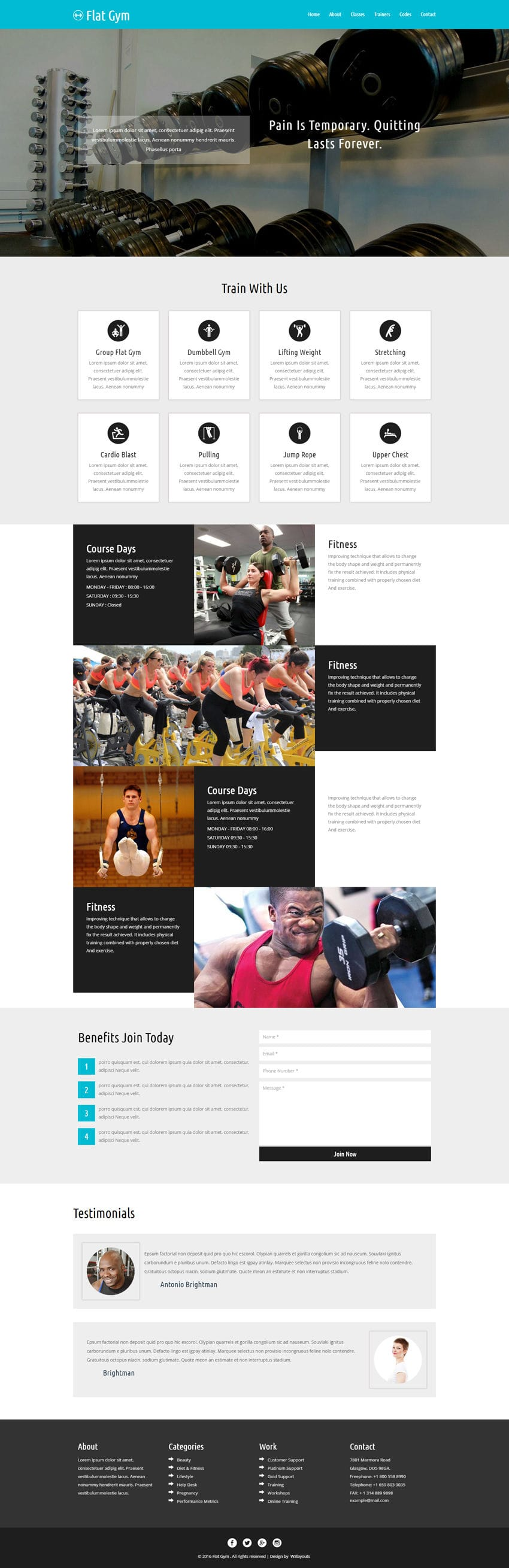 Flat Gym A Sports Category Flat Bootstrap Responsive Web Template - Responsive email template bootstrap