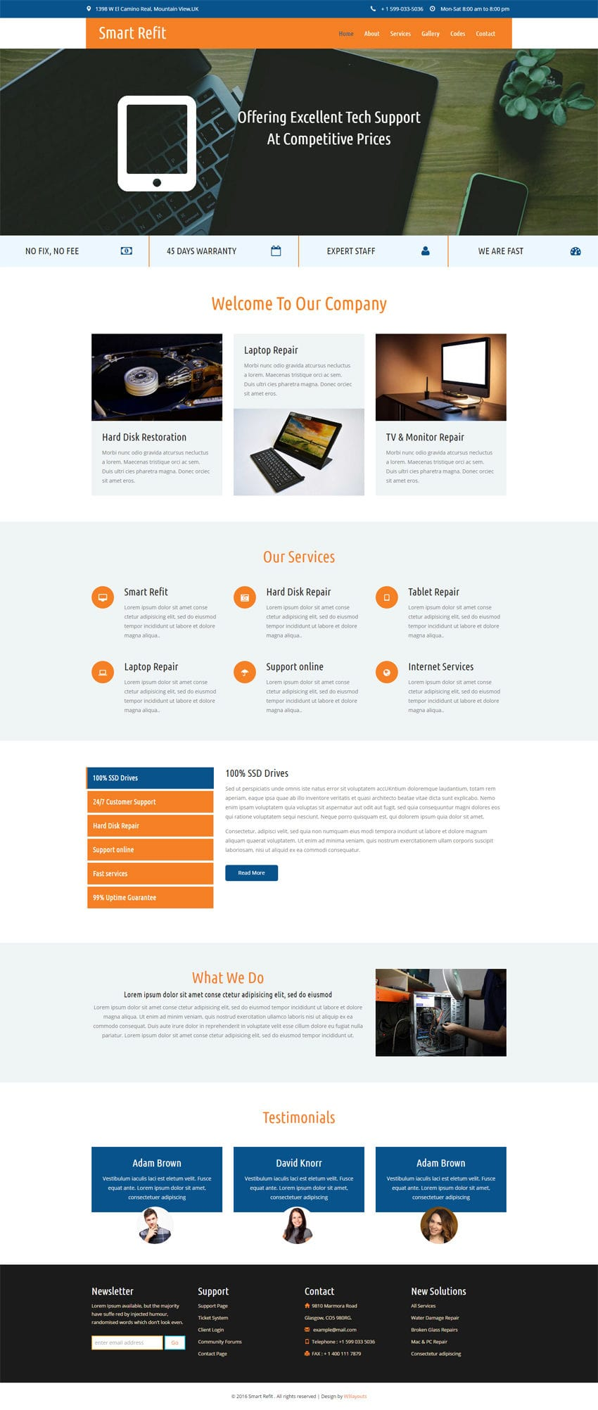 Smart Refit a Corporate Category Flat Bootstrap Responsive
