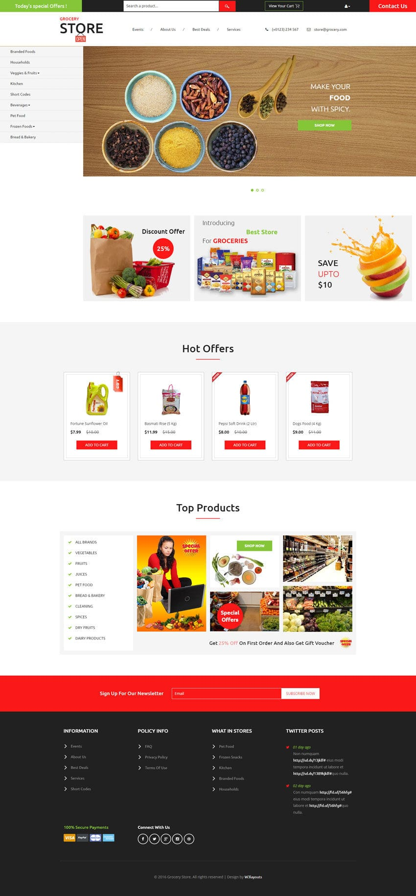 Grocery Store A Ecommerce Category Flat Bootstrap Responsive Web