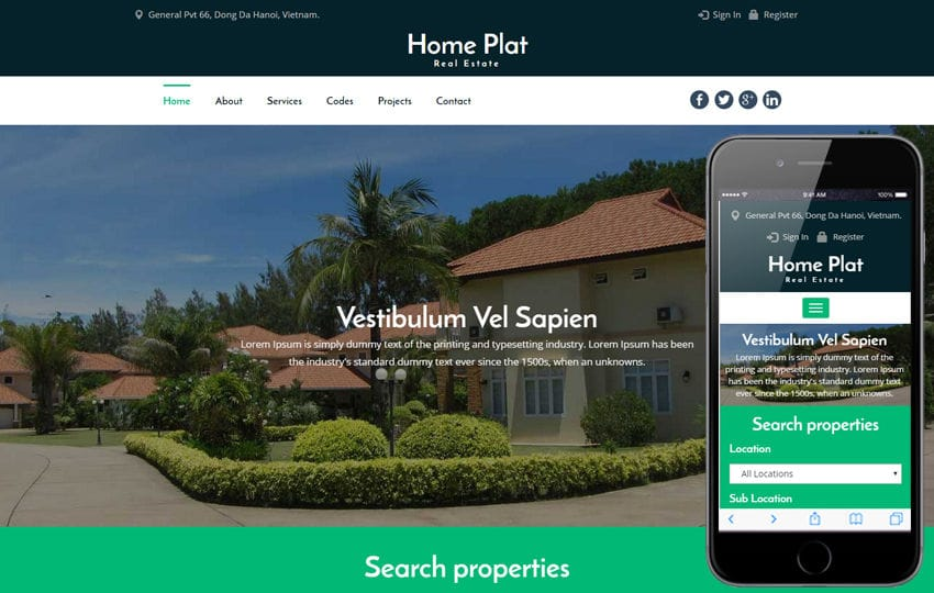 Home Plat a Real Estate Category Bootstrap Responsive Web Template Mobile website template Free