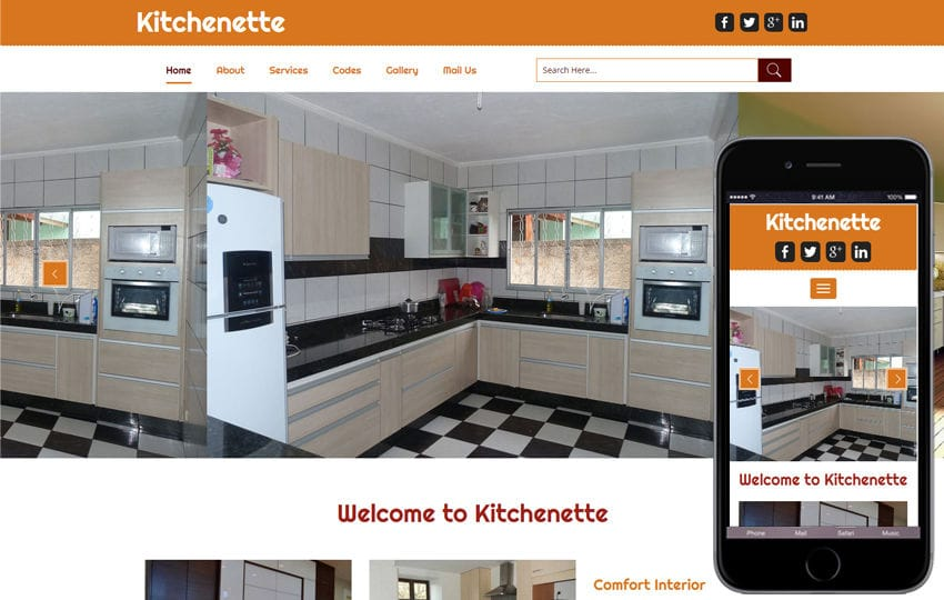 Kitchenette a Interior Category Flat Bootstarp Responsive Web Template Mobile website template Free