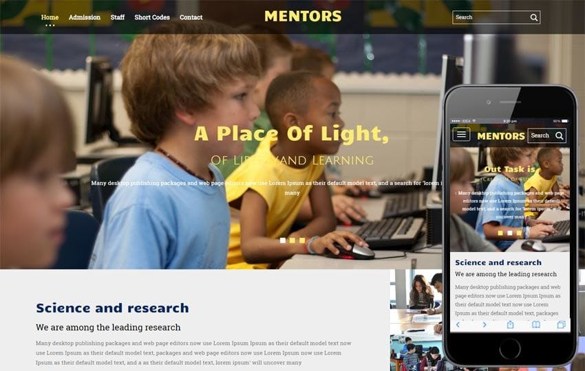 Mentors a Education Category Flat Bootstrap Responsive Web Template Mobile website template Free