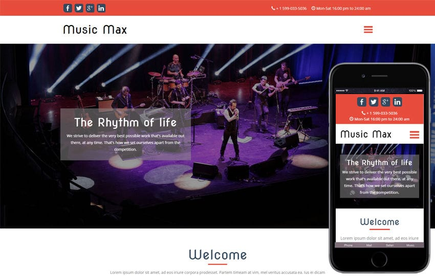 Music Max a Entertainment Category Flat Bootstrap Responsive Web Template Mobile website template Free