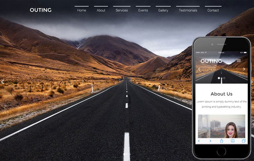 Outing Travel Category Flat Bootstrap Responsive  Web Template Mobile website template Free