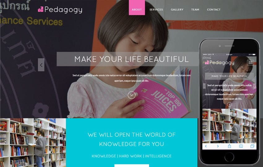 Pedagogy a Education Category Flat Bootstrap Responsive Web Template Mobile website template Free
