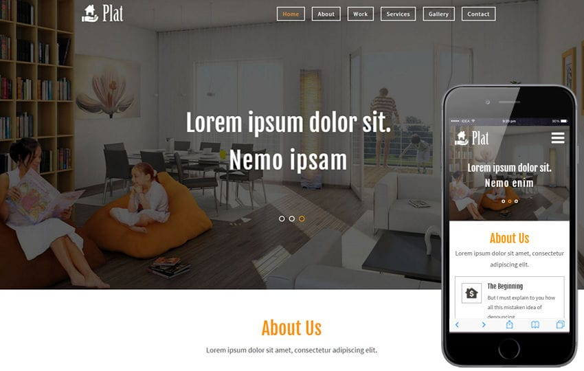 Plat a Real Estate Category Flat Bootstrap Responsive  Web Template Mobile website template Free
