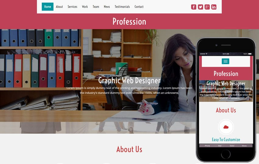 Profession a Corporate Business Category Flat bootstrap Responsive  Web Template Mobile website template Free