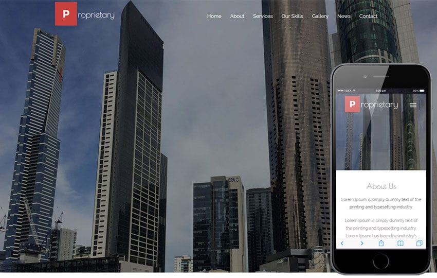 Proprietary a Real Estate Category Flat bootstrap Responsive web Template Mobile website template Free