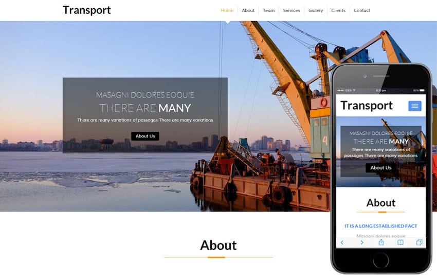 Transport a Industrial Category Flat Bootstrap Responsive Web Template Mobile website template Free