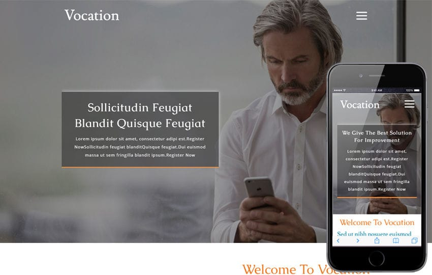 Vocation a Corporate Business  Category  Flat Bootstrap Responsive Web Template Mobile website template Free