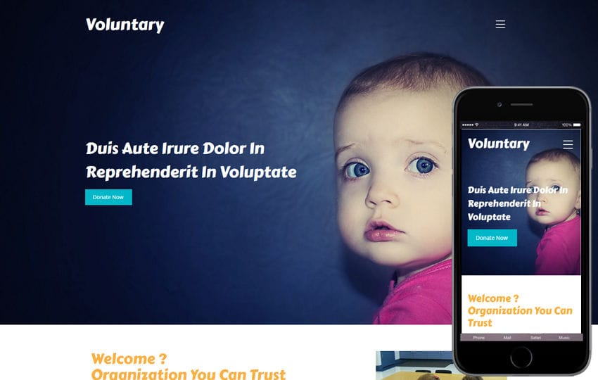 Voluntary a Society and People Category Bootstrap Responsive Web Template Mobile website template Free