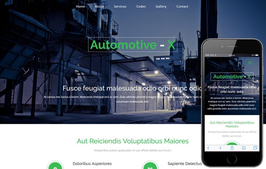 Automotive-x a Industrial Category Flat Bootstrap Responsive Web Template Mobile website template Free