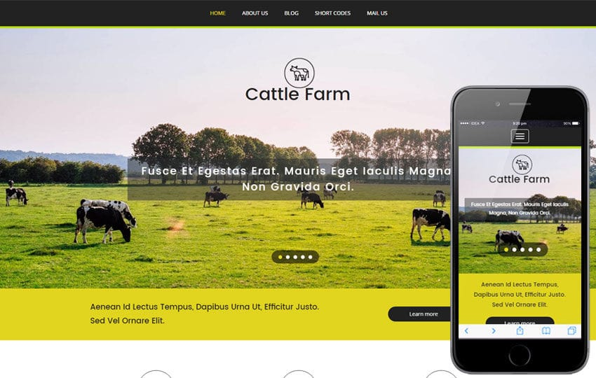 Cattle Farm an Agriculture Category Flat Bootstrap Responsive Web ...