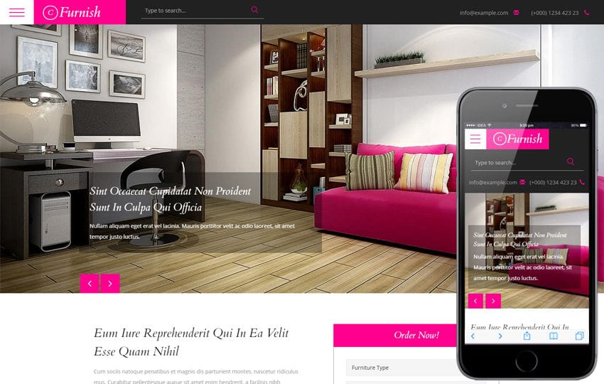 Furniture Design Templates furniture - w3layouts
