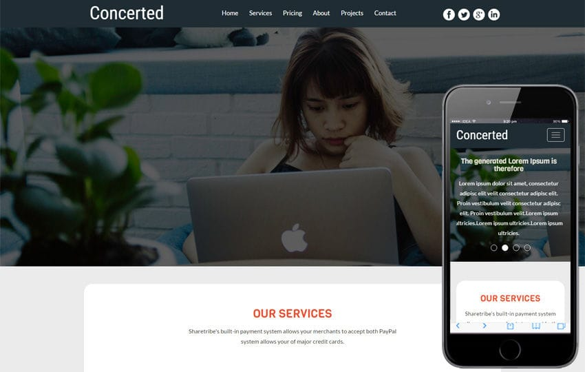 Concerted a Corporate Business Category Flat Bootstrap Responsive Web Template Mobile website template Free