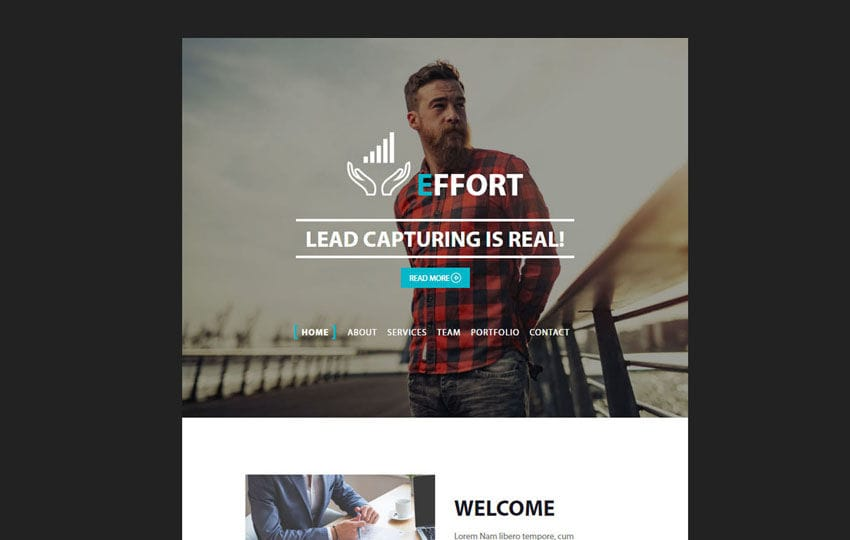 Effort A News Letter Web Template Mobile website template Free