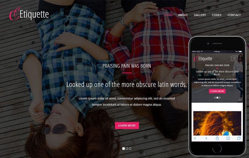 Etiquette a Fashion Category Flat Bootstrap Responsive Web Template